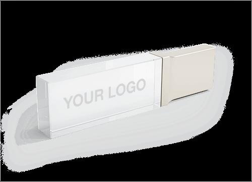 Crystal - Custom Glass USB Thumb Drives