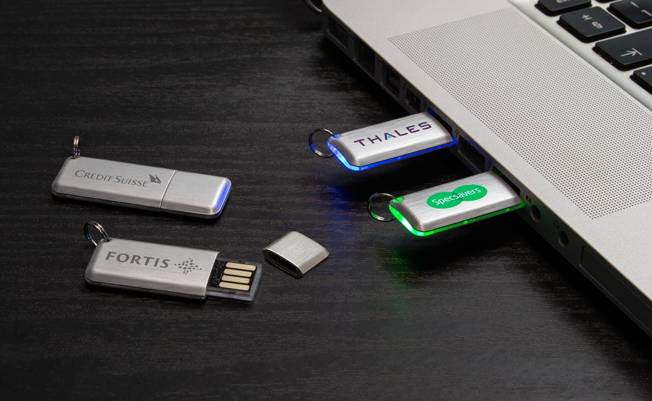 Halo - Custom USB Drives with LED Light